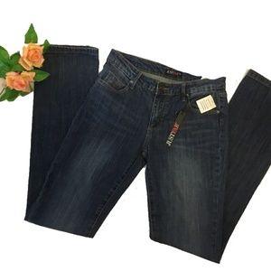 NWT JustFab Dark Wash Blue Jeans Pants